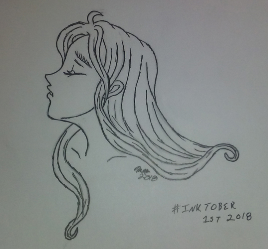 My first Inktober drawing, featuring Rose